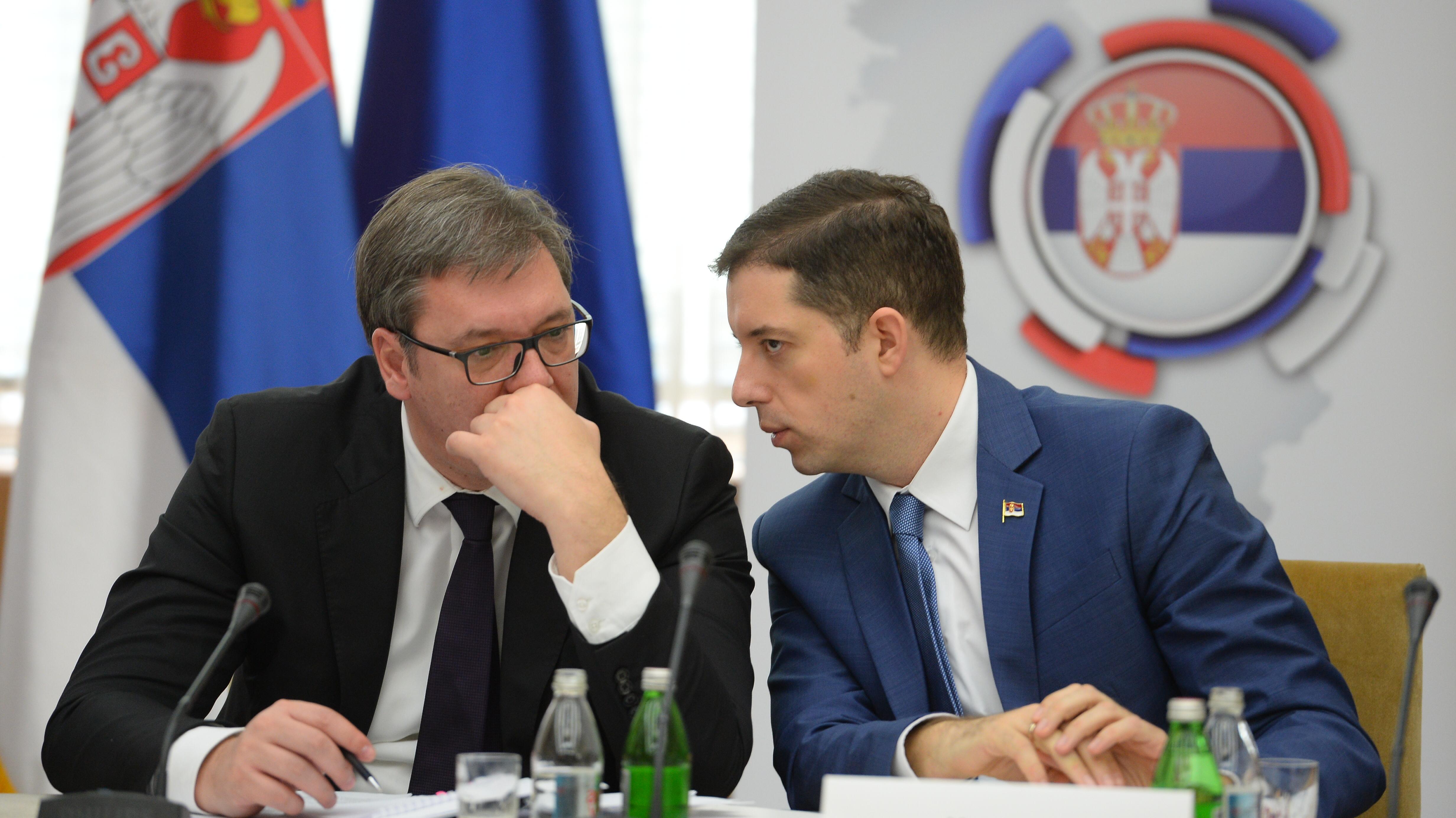 Aleksandar Vučić, Marko Đurić; Foto: Tanjug / Tanja Valić / bg