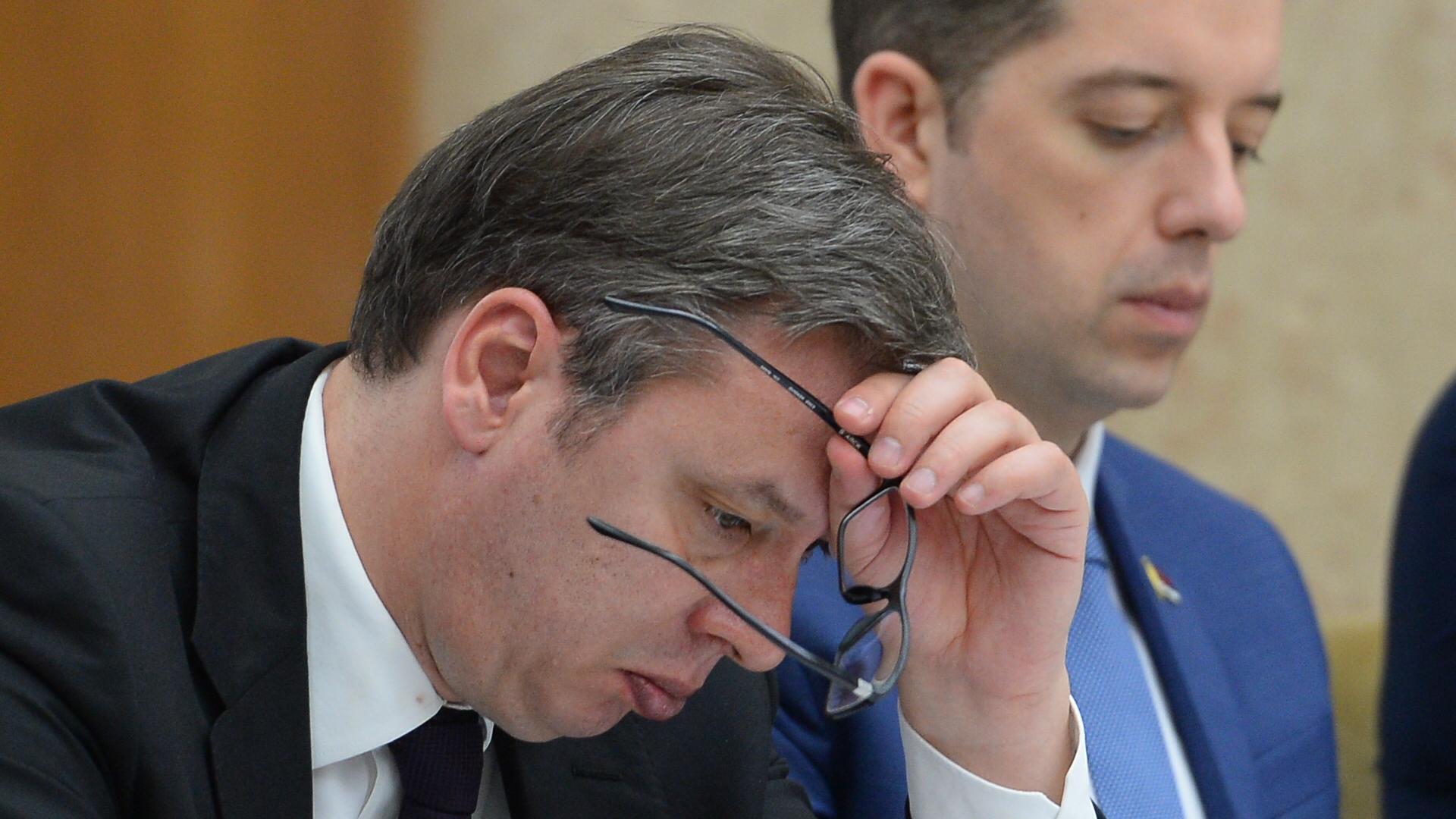 Aleksandar Vučić i Marko Đurić; Foto: Tanjug / Tanja Valić