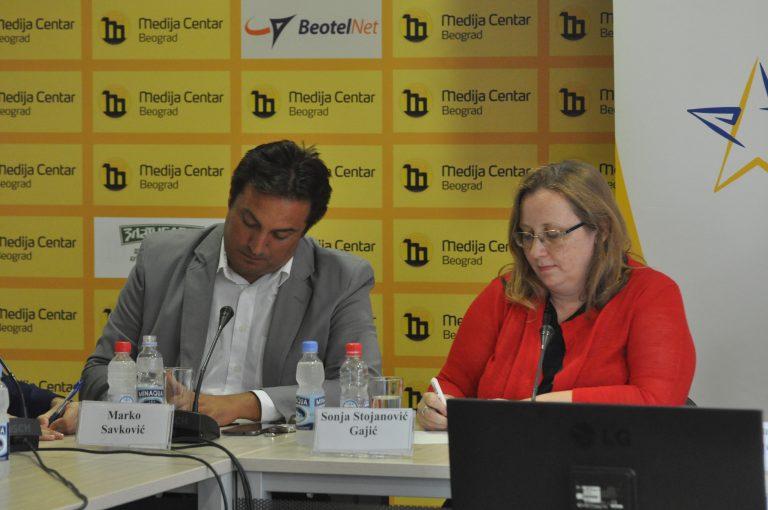 Marko Savković i Sonja Stojanović Gajić; Foto: Medija Centar
