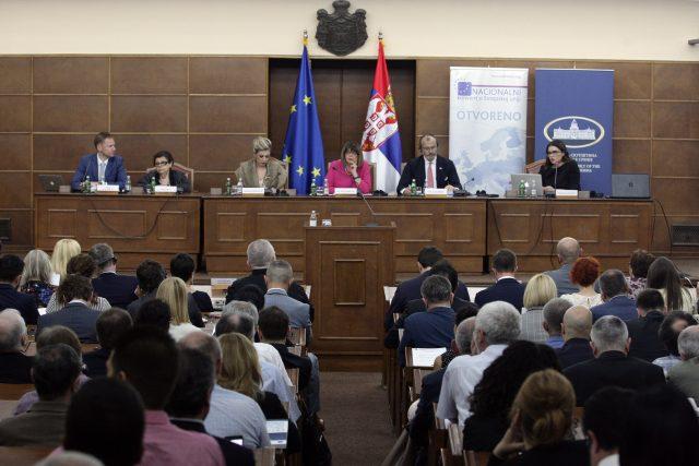 Sedma plenarna sednica NKEU; Foto: Tanjug / Sava Radovanović
